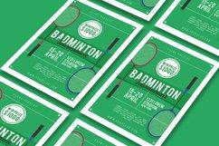 Badminton Tournament Flyer Product Image 3