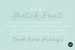 """""""COTTAGE SKETCH"""" Sketch Font - Single Line/Hairline Font Product Image 4"""