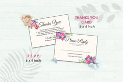 Wedding Invitation Set #8 Watercolor Floral Flower Style Product Image 4