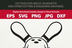 Skull and Cross Pins Bowling SVG Cutting File and Clipart Product Image 2