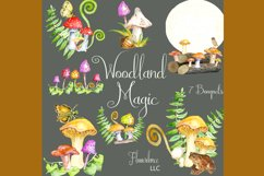 Watercolor Fall Clipart - Autumn Clipart - Mushrooms Product Image 4