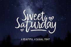 Sweet Saturday Font Product Image 1