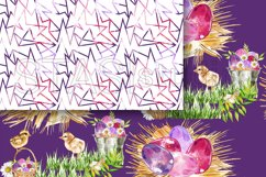 Easter Paper Pack Purple Easter Seamless Pattern Digital Fab Product Image 3