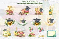 Graduation Watercolor Clipart Product Image 5