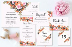 Lovely Peach And Pink Floral Wedding Invitation Set Product Image 1