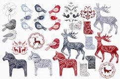 Nordic Christmas Clip Art Dala Horse Swedish Design Product Image 4