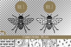 Hand-drawn ink insects and patterns Product Image 3