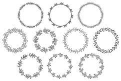 Flower Border SVG, Floral Wreath SVG, Flower Circle Wreath Product Image 1
