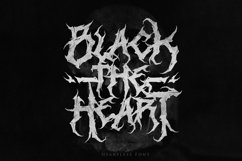 Heartless - Most Wanted Deathmetal Font Product Image 2