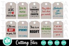Christmas SVG | Gift Tags SVG | Funny Gift Tags SVG Product Image 1
