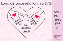 Long distance love svg, Valentines day svg Product Image 1