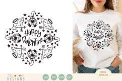 Valentine gnome mandala, bundle, SVG Product Image 3