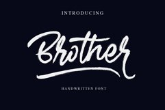 Brother - Handwritten Font Product Image 1