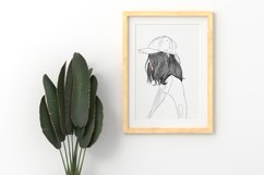 Art Print   Woman wearing a hat that has a modern style Product Image 2