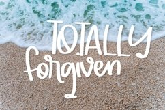 Web Font Totally Forgiven - A Fun hand lettered type! Product Image 1