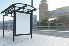 Bus Shelter Billboard Mockup Product Image 2