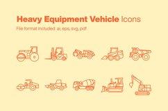 Heavy Equipment Vehicle 10 Icons Product Image 1