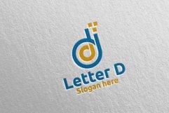 Digital Letter D Logo Design 14 Product Image 1
