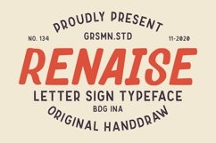 Renaise - Letter Sign Typeface Product Image 1