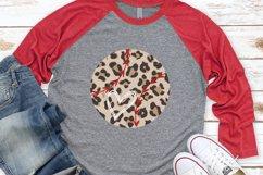 Baseball Heart - Baseball Mom - Leopard Baseball SVG Product Image 1