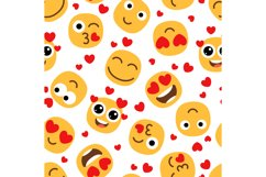 Love emojis seamless pattern Product Image 1