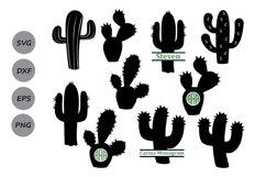 Cactus svg, cactus clipart, Cactus Monogram Svg. Product Image 1