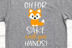 Oh for Fox Sake Wash Your Hands SVG, DXF, PNG, EPS Product Image 1