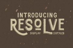 Resolve Font Product Image 1