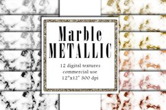 Metallic Marble Textures, Rose Gold Marble, Silver Papers Product Image 1