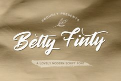 Betty Finty - Modern Script Font Product Image 1