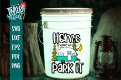 Home Is Where You Park it Hitch Camper SVG Product Image 3