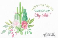 Watercolor Cactus Clipart Bouquets Arrangements Flowers Product Image 3