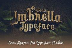 Umbrella - 4 Display Fonts Product Image 6
