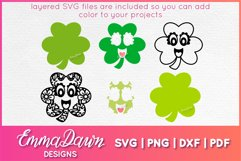 CONNY THE CLOVER SVG St Patrick's Day Zentangle Design Product Image 3