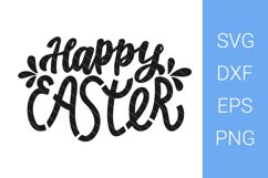 Happy Easter SVG, Hand Lettering Product Image 1