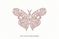 Mystical butterfly svg, Boho butterfly, Boho moth svg, Luna Product Image 2