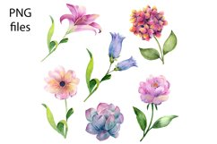 Watercolor Cactus and Flowers Clipart. Product Image 2