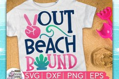 Peace Out Beach Bound SVG DXF PNG EPS Cutting Files Product Image 1