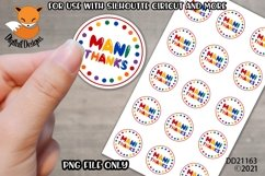 Small Business Sticker Mani Thanks Nail Tech PNG Product Image 1