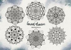 Watercolor & Gold Hand Drawn Mandala Product Image 4