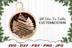 Believe Christmas Tree Ornament SVG DXF Cut Files Product Image 4