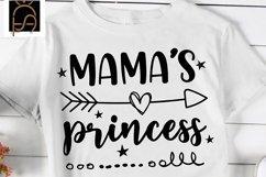 Mamas Princess - Little Princess SVG DXF EPS PNG Product Image 1