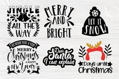 Christmas SVG Bundle, Christmas Shirt Svg, Funny Santa Claus Product Image 4