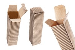 Photos of eco-friendly corrugated cardboard packaging. Product Image 1