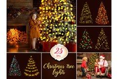 25 Christmas Tree Lights Overlays Product Image 1