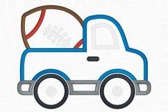 Football Truck Applique Design 1266 Product Image 3