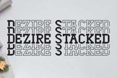 Dezire Stacked - Mirrored Font Product Image 1