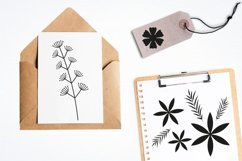 Flower silhouettes Graphics and illustrations, vecto Product Image 4