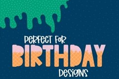 Sprinkles - A Dipped Cone Font For Layering Product Image 2