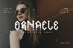 Ornacle - Futuristic Font Product Image 1